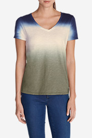 Petite Tops for Women: Women's Dip Dye T-Shirt