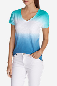 Green Tops for Women: Women's Dip Dye T-Shirt