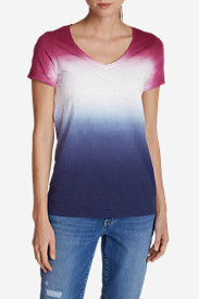 Cotton Tops for Women: Women's Dip Dye T-Shirt