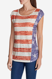 Cotton Tops for Women: Women's Flag T-Shirt