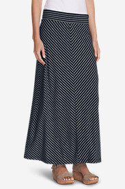 Spandex Skirts for Women: Women's Kona Maxi Skirt - Stripe