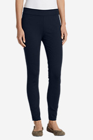 Blue Petite Yoga Pants for Women: Women's Passenger Ponte Skinny Pants