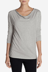 Cowl Neck Tees for Women: Women's Girl On The Go Cowl-Neck Top