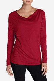 Women's Girl On The Go Cowl-Neck Top