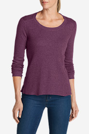 Comfortable Tops for Women: Women's Stine's Waffle Crew