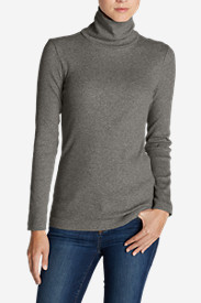 Slim Fit Sweaters for Women: Women's Lookout 2x2 Rib Long-Sleeve Turtleneck