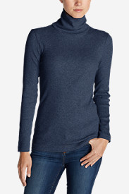 Cotton Sweaters for Women: Women's Lookout 2x2 Rib Long-Sleeve Turtleneck