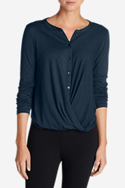 Comfortable Tops for Women: Women's Girl On The Go Wrap It Up Top