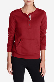 Cotton Tops for Women: Women's Cabin Fleece Crew