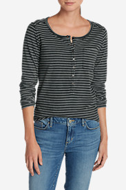 Women's Gypsum Henley - Stripe