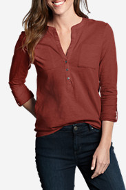 Women's Essential Slub Popover Shirt