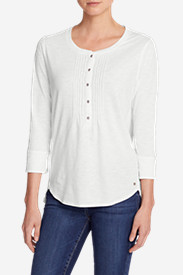 Women's Pleated Henley Top