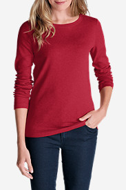 Comfortable Tops for Women: Women's Favorite Long-Sleeve Crewneck T-Shirt