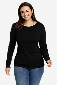 Petite Tops for Women: Women's Favorite Long-Sleeve Crewneck T-Shirt