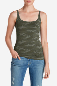 Green Tops for Women: Women's Layering Cami - Print
