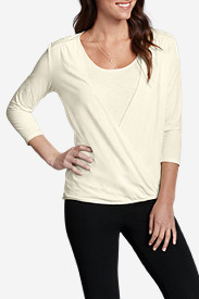 Girl On The Go® 3/4-Sleeve Wrap Top