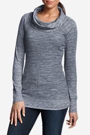 Cowl Neck Tees for Women: Women's Stine's Favorite Waffle Cowl Tunic
