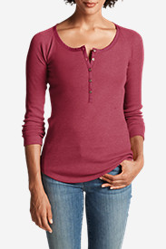 Women's Stine's Favorite Waffle Henley Shirt - Solid