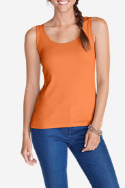 Orange Tank Tops for Women: Women's 2X2 RIB TANK - SOLID
