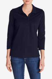 Women's 3/4-Sleeve Piqué Polo Shirt