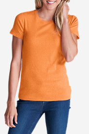 Orange Tops for Women: Women's Favorite Short-Sleeve Crewneck T-Shirt