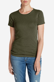 Green Plus Size Tshirts for Women: Women's Favorite Short-Sleeve Crewneck T-Shirt