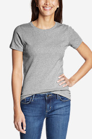 Gray Plus Size Tshirts for Women: Women's Favorite Short-Sleeve Crewneck T-Shirt