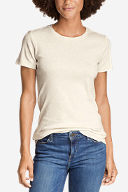 Beige Petite Tshirts for Women: Women's Favorite Short-Sleeve Crewneck T-Shirt