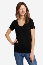 Comfortable Tops for Women: Women's Favorite Short-Sleeve V-Neck T-Shirt