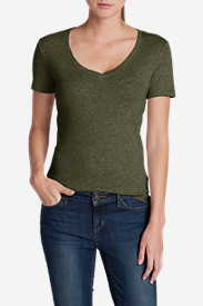 New Fall Arrivals: Women's Favorite Short-Sleeve V-Neck T-Shirt