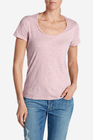 Purple Tees for Women: Women's Essential Slub Short-Sleeve Scoop-Neck T-Shirt
