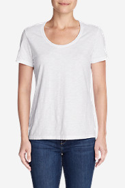 White Tees for Women: Women's Essential Slub Short-Sleeve Scoop-Neck T-Shirt