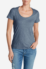 Women's Essential Slub Short-Sleeve Scoop-Neck T-Shirt