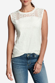 Cotton Tops for Women: Women's Crochet T-Shirt