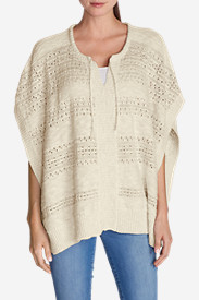 Cotton Tops for Women: Women's Madrona Poncho Sweater