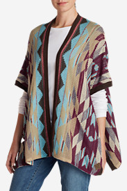 Cotton Tops for Women: Women's Geometric Poncho Sweater