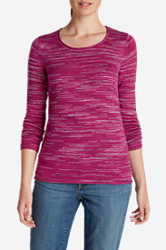 Cotton Tops for Women: Women's Sweatshirt Sweater - Space Dye