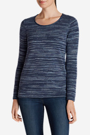 Comfortable Tops for Women: Women's Sweatshirt Sweater - Space Dye