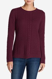 Crewneck Sweaters for Women: Women's Cable Fable Crew Sweater