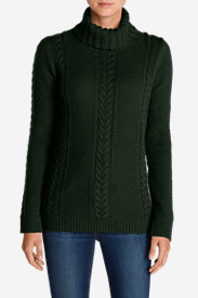 Nylon Sweaters for Women: Women's Cable Fable Turtleneck Sweater