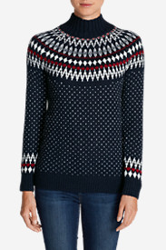 Cotton Tops for Women: Women's Arctic Fair Isle Sweater