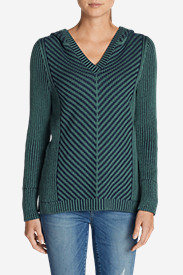 Green Tops for Women: Women's Shasta Hoodie Sweater