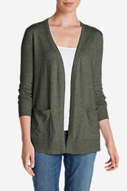 Green Tops for Women: Women's Christine Boyfriend Cardigan Sweater