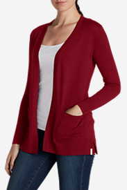 Red Cardigans for Women: Women's Christine Boyfriend Cardigan Sweater