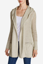 Women's Beachside Hoodie Cardigan Sweater