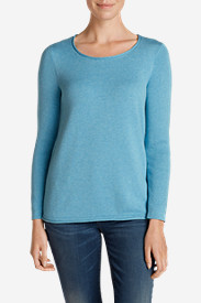 Crewneck Sweaters for Women: Women's Sweatshirt Sweater - Solid