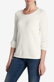 White Sweatshirts for Women: Women's Sweatshirt Sweater - Solid