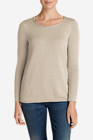 Cotton Sweaters for Women: Women's Sweatshirt Sweater - Solid
