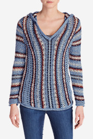 Women's Baja Hooded Sweater - Stripe