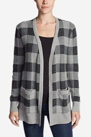 Women's Christine Boyfriend Cardigan Sweater - Plaid